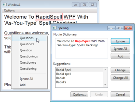 Picture of Keyoti RapidSpell WPF 3.0