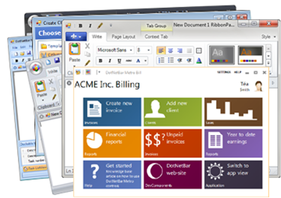 Picture of DevComponents DotNetBar for Windows Forms 11.8